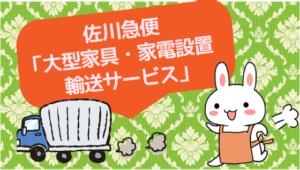 佐川急便「大型家具・家電設置輸送サービス」