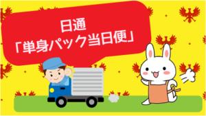 日通「単身パック当日便」
